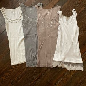 Set of 4 women's tank tops